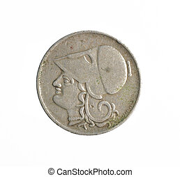 Vintage 2 Drachma coin made by Greece