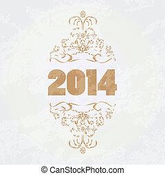 Vintage 2014 background, vector illustration, EPS10