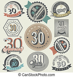 Vintage 30 anniversary collection - Vintage style 30...