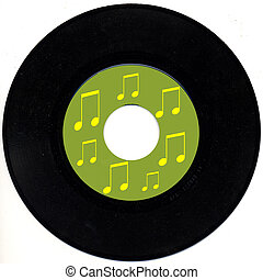 Vintage 45 rpm record - a single from sixties