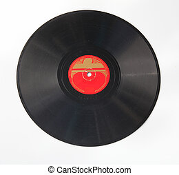 Vintage 78 rpm record - VIntage 78rpm record with red label ...