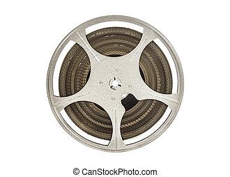 Vintage 8 mm Movie Film Reel Isolated on White