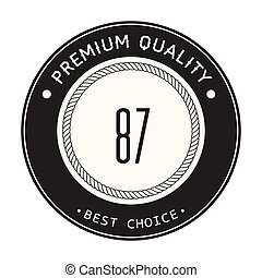 Vintage 87 Best Choice Vector Image