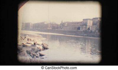 Vintage 8mm. Adige river