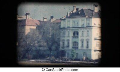 Vintage 8mm. Buildings in Bolzano