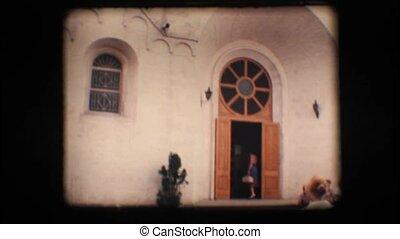 Vintage 8mm. Church in Alberobello