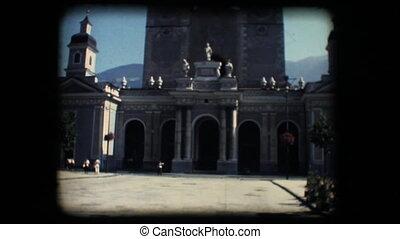Vintage 8mm. Church in Brixen