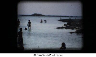 Vintage 8mm. Clear water beach