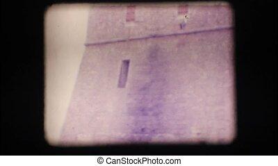 Vintage 8mm. Coastal watchtower