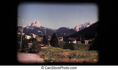 Vintage 8mm. Dolomite mountains