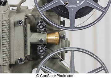 Vintage 8mm Film Projector with Home Movie Reel