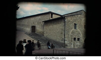 Vintage 8mm. Monastery in Assisi