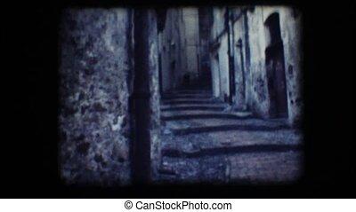 Vintage 8mm. Narrow alley