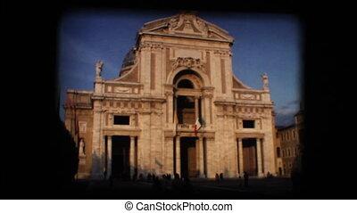 Vintage 8mm. Old Italian church