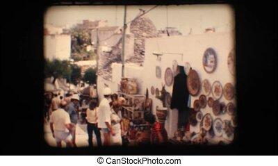 Vintage 8mm. Shops in Alberobello