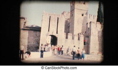 Vintage 8mm. Sirmione castle