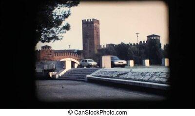Vintage 8mm. Tower and bridge
