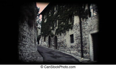 Vintage 8mm.Little street in Assisi