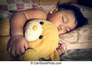 Vintage a child sleep