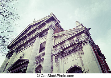 vintage abbey - San Vidal abbey in vintage tone