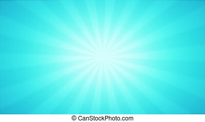 Vintage abstract background in blue color with Retro Sunlight beams