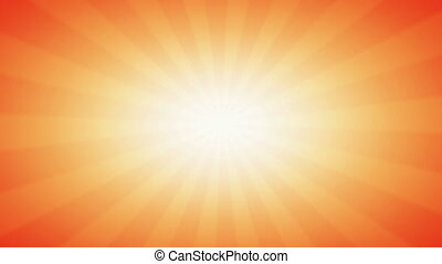 Vintage abstract background in Orange warm colors with Sunlight beams