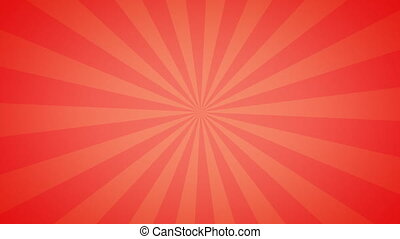 Vintage abstract background in red color with Retro Sunlight beams