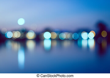 vintage abstract city background of bokeh