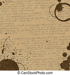Vintage Abstract Coffee Background, vector, eps10