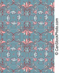 Vintage abstract seamless floral pattern
