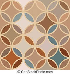 Vintage abstract seamless pattern with circles