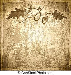 Vintage Acorn Background