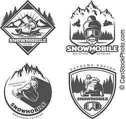 Vintage Active Leisure Emblems Set