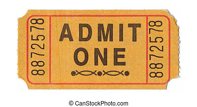 Vintage admission ticket - Generic vintage admit one ticket...