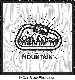 Vintage Adventure Card Lonely Wolf Quote Wilderness Tours American Heritage Logo Retro Hand Drawn Monochrome Travel Canstock