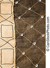 Vintage African texture - African textile material hessian,...
