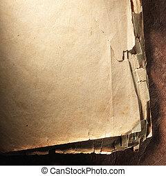 Vintage aged old paper. Original background or texture....