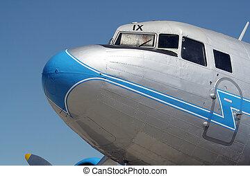 vintage aircraft - Vintage WW2 DC-3 aircraft