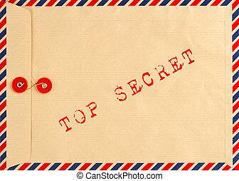 vintage airmail envelope. top secret - vintage airmail...