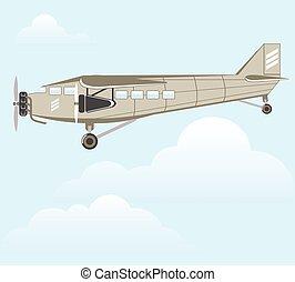 Vintage Airplane illustration