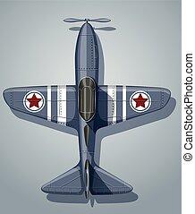 Vintage airplane used in army