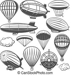 Vintage Airship Collection - Vintage airship collection with...