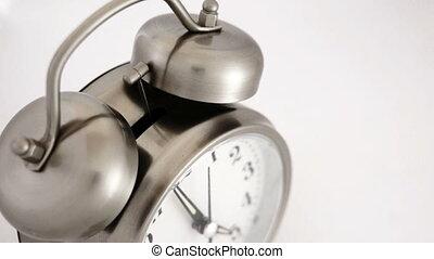 Vintage Alarm Clock High Angle - High angle shot of a...