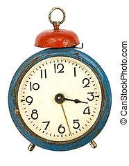 vintage alarm-clock isolated on white