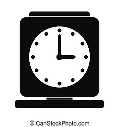 Vintage alarm clock simple icon