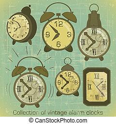 Vintage Alarm Clocks - Collection of Vintage Alarm Clocks...