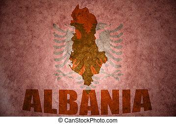 Vintage albania map