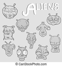Vintage alien collection
