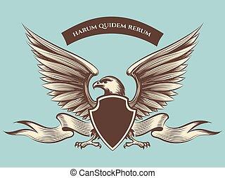 Vintage american eagle mascot icon