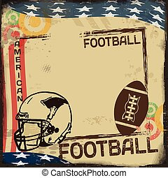 Vintage American Football poster or frame